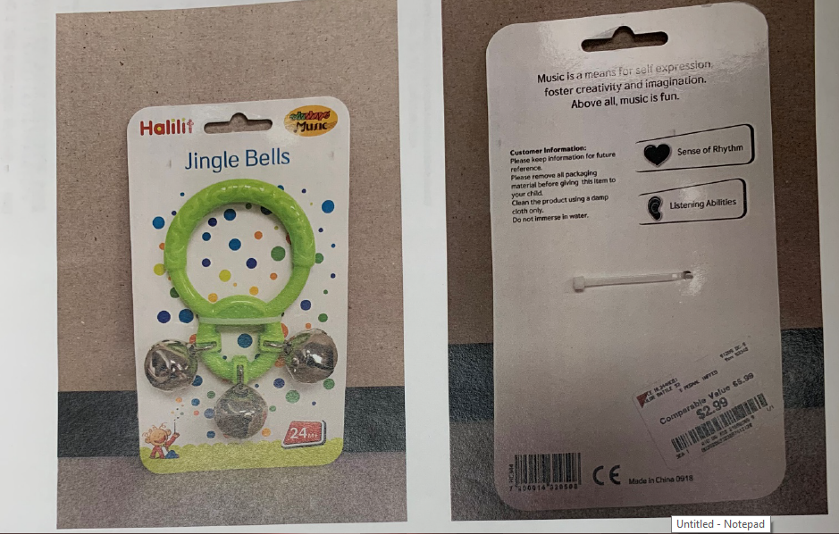 Halilit Jingle Bells toy