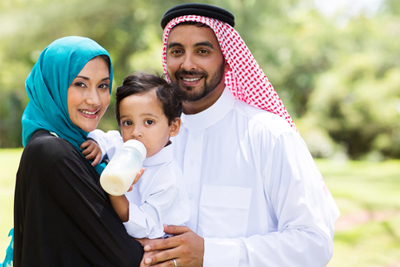 picture of Muslim-American Family