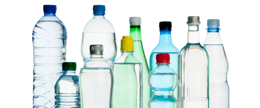 image of water bottles
