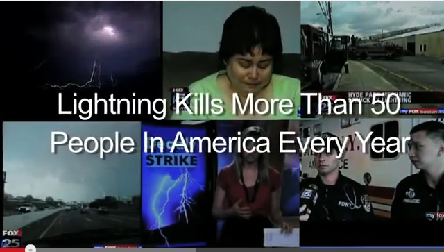 Graphic -When Lightning Strikes Go Indoors - Go to the National Weather Service Video Lightning the Impacts on People