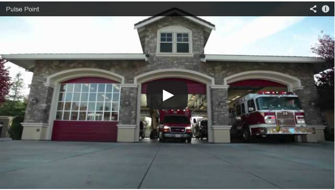 Image of a Fire Department - Click here to view a video that describes Pulse Point