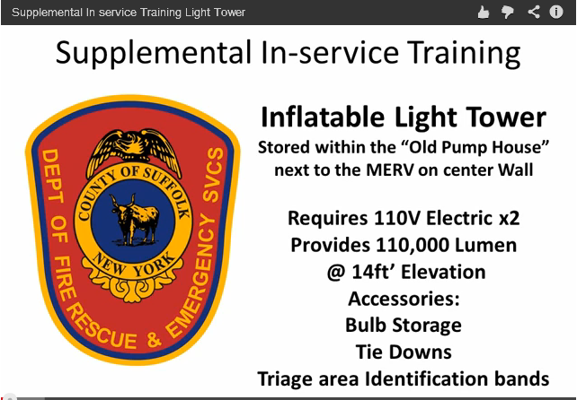 Image from the Supplemental In-Service Training for the Inflatable Light Tower video - Go to the video