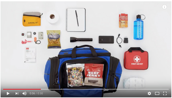 Click here to learn more about the Prepping A Go Bag With Supplies In Case Of An Emergency: It's Scary Simple | FEMA Video