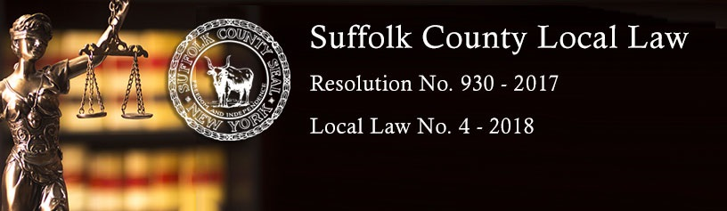 New Suffolk County Food Allergy Local Law Banner