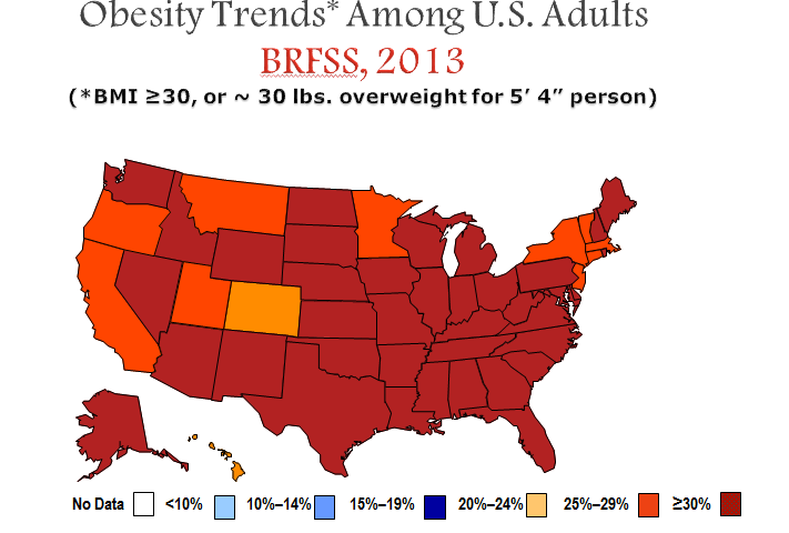 Obesity Trends Among US Adults 2013