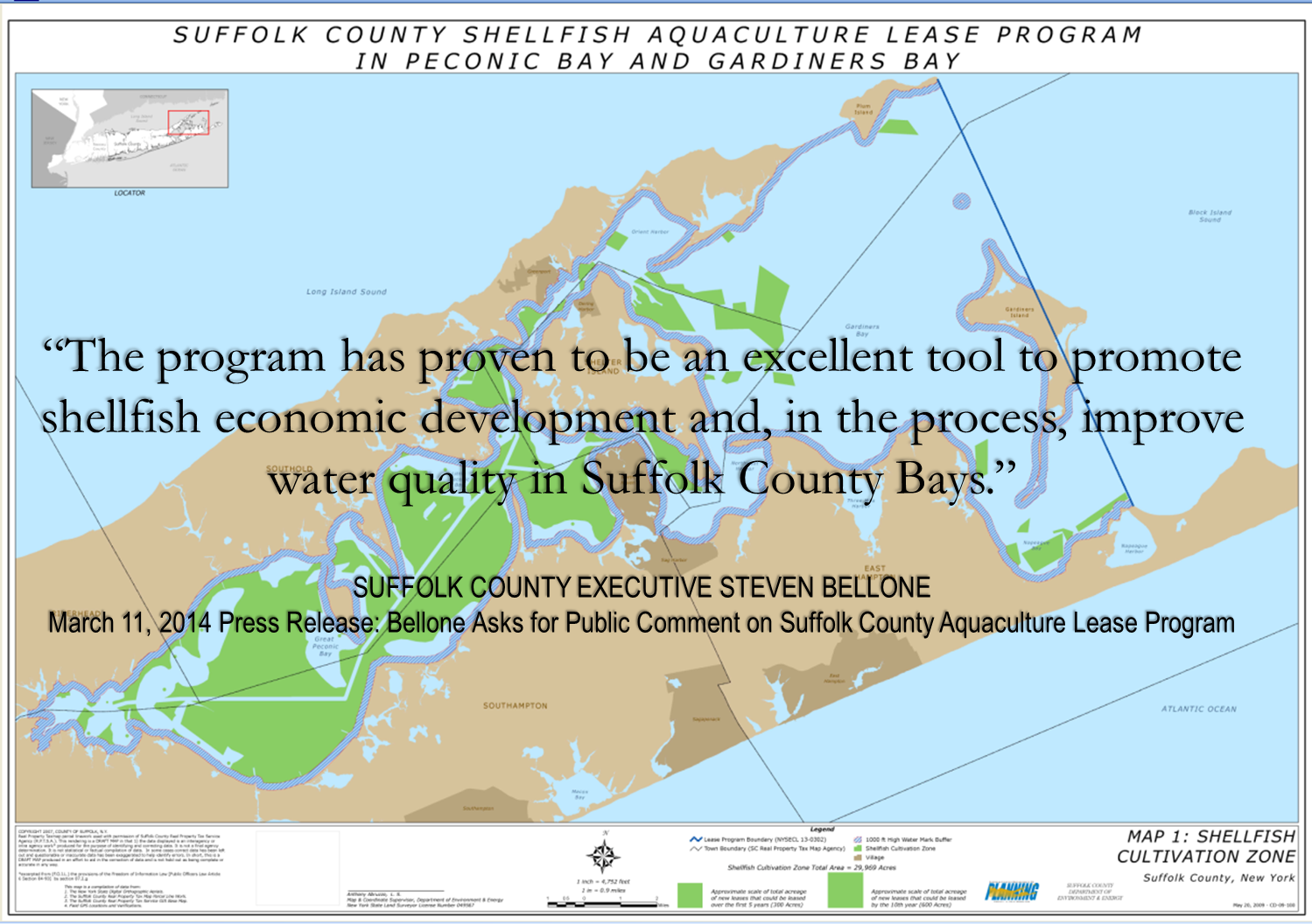 Picture of Suffolk County Shellfish Aquacluture lease program