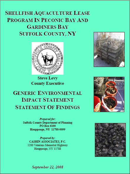 Generic Environmental Impact Statement of Findings cover